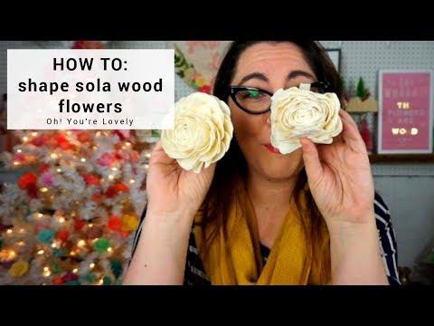 How to shape sola wood flowers
