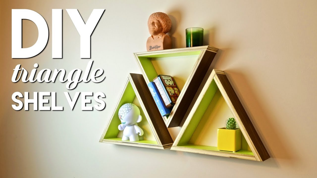 DIY Geometric Triangle Shelves | Simple Woodworking Project - YouTube