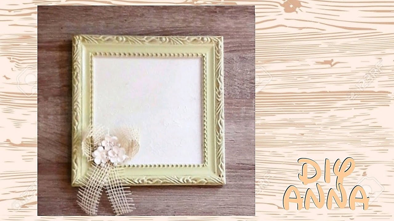 Decoupage Shabby Chic Photo Frame Diy Vintage Ideas Decorations