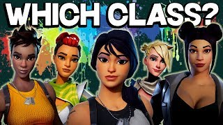 Video WHICH CLASS IS RIGHT FOR YOU? Fortnite Class Guide 2018 - Save the World PVE download MP3, 3GP, MP4, WEBM, AVI, FLV Juni 2018