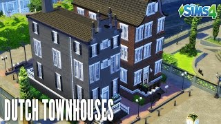 THE SIMS 4 SPEED BUILD #108 - DUTCH TOWNHOUSES