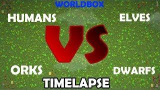 Gambar cover WorldBox Humans vs Orks vs Elves vs Dwarfs Timelapse