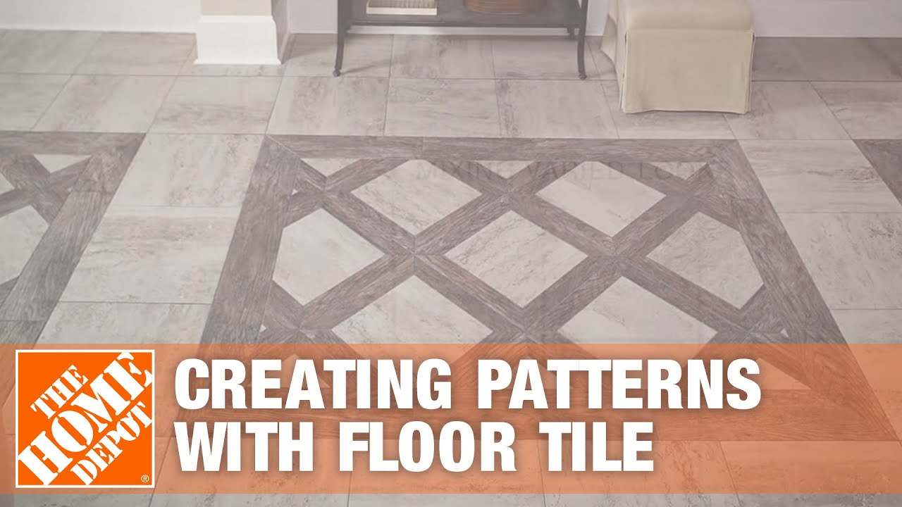 Creating Patterns With Glazed Porcelain Floor Tile Youtube