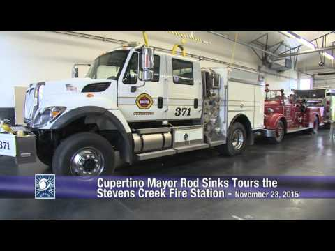 Mayor Rod Sinks Tours Cupertino's Stevens Creek Fire Station - 11/23/15