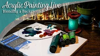 How to paint a smooth background acrylic painting LIVE & Art Chat