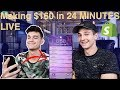 Meet Max, 20 Year Old Making 100k/M - Making $160 LIVE - Shopify Drop-shipping