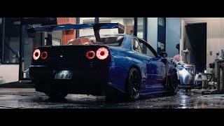 900HP Nissan R34 GT-R in Tokyo - Raw Sound | 4K