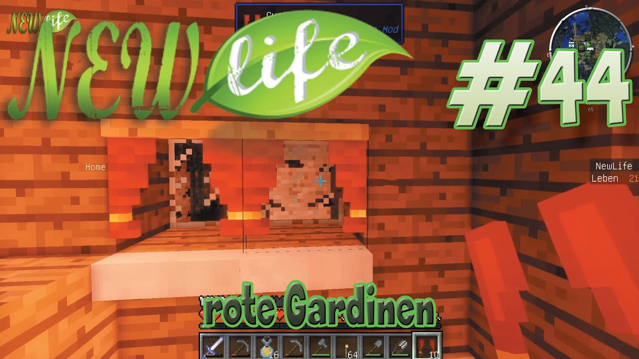 rote gardinen in minecraft new life 44 youtube. Black Bedroom Furniture Sets. Home Design Ideas