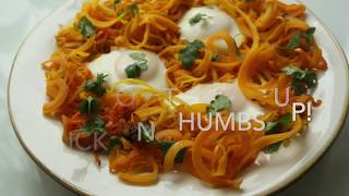Spiralized Butternut Squash with Egg
