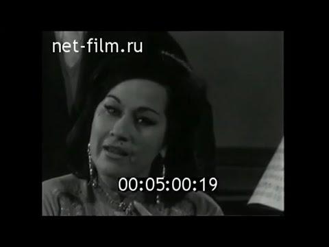 Yma Sumac - Entrevista e trecho de recital (Taita Inty) em Moscow - 1960