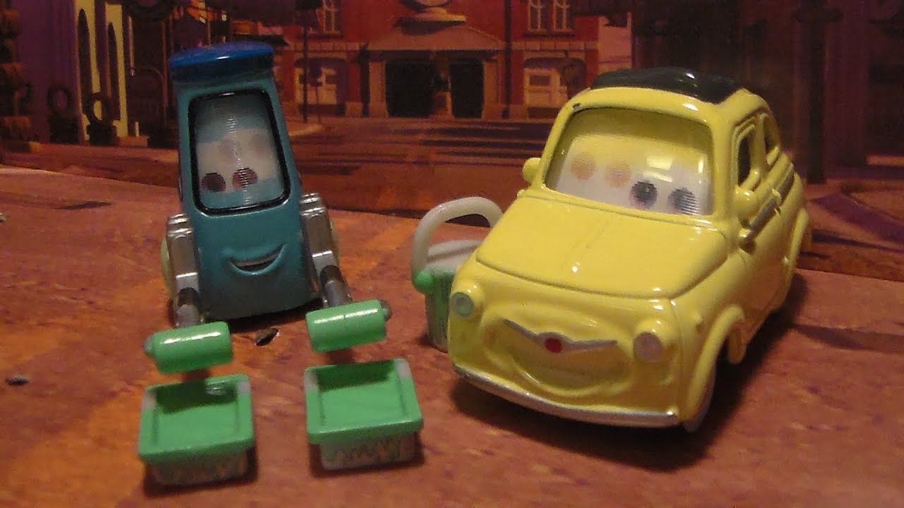 Luigi and Guido w/ Paint Rollers, Trays, and Bucket, 2010 CHASE* Disney Pixar Cars Diecast ...