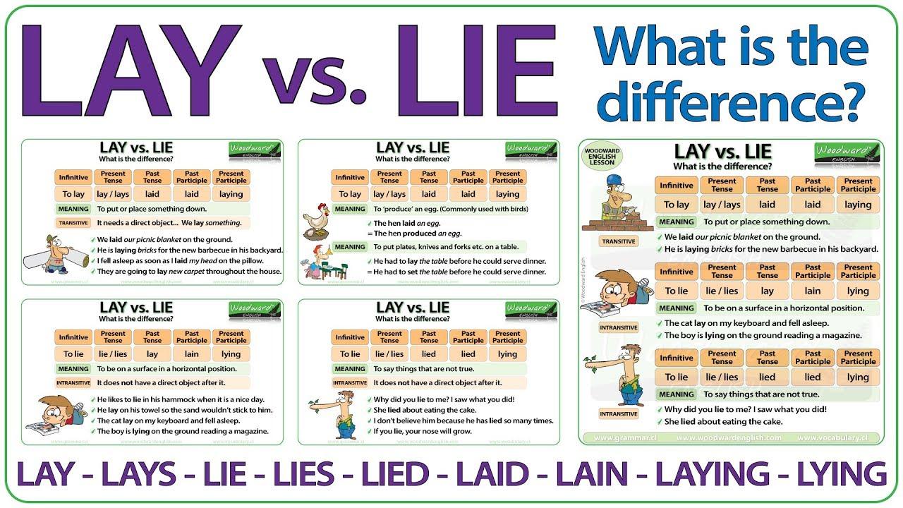 LAY vs  LIE - English Vocabulary