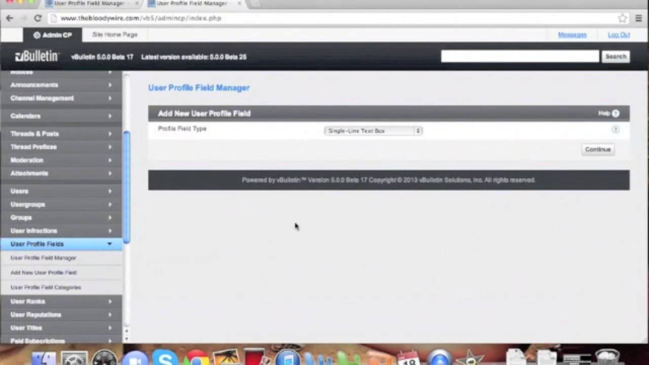 vBulletin 5 Connect: Adding a Custom User Profile Field