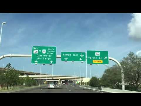 Driving To New Car Rental Center At Tampa International From