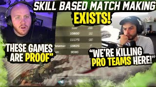 PROOF SBMM EXISTS! PRO TEAMS ARE ON US EVERY GAME FT. SCUMP, NADESHOT & RALLIED