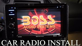 How to install a car stereo (BOSS BVB9364RC) - YouTubeYouTube