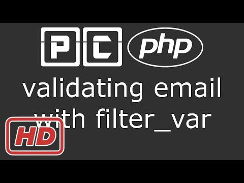 [PHP Tutorial] PHP beginners tutorial 55 - validating email with filter var