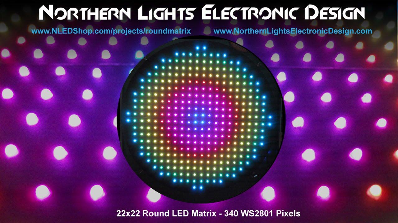 Round LED Matrix - 340x WS2801 Pixels: 6 Steps