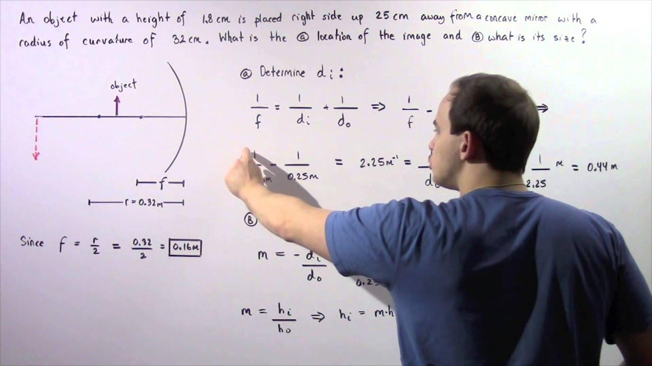 Concave Mirror Example # 1 - YouTube