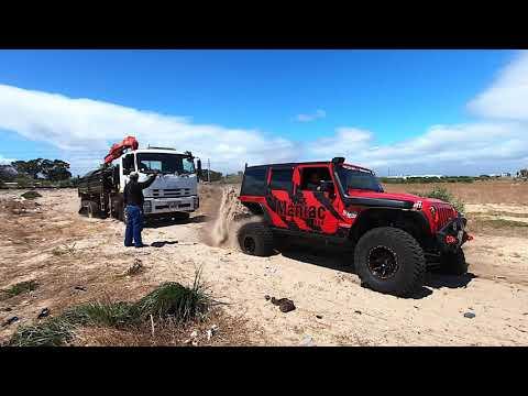 Maniac 4x4 Manufacturing Auxiliary Fuel Tank, Steel Grab Bars, Rugged Ridge A-Pillar ch Panel