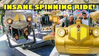 INSANE Spinning Tik Tak Ride at Tivoli Gardens Amusement Park in Denmark Onride POV