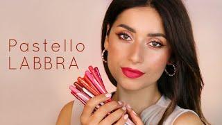 Pastello LABBRA ? swatch e applicazione di tutti i colori - Neve Cosmetics