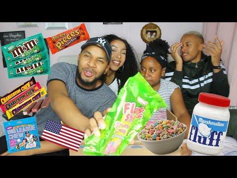 BIG DEGUSTATION AMERICAINE EN FAMILLE 🇺🇸 | HONEYSHAY