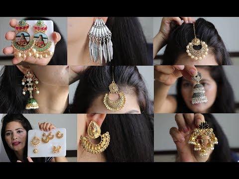 Huge Myntra Jewellery Haul   Sale 80% Off   Beauty And Creativity
