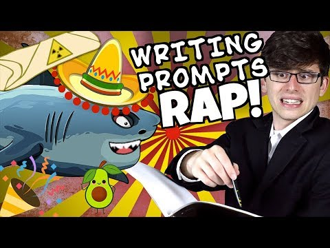 WRITING PROMPTS RAP! Spanish Sharks and Radioactive Burritos! (Feat   Keyblade) | Mat4yo