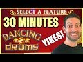 👯30 SOLID Minutes on DANCING DRUMS 💃🛢✦ Slot Machine Pokies w Brian Christopher
