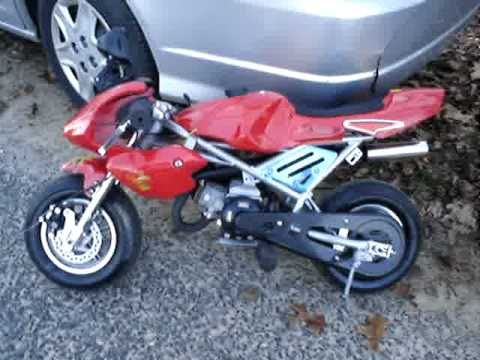 pocket bike 47mph yes or no manufacture says yes youtube. Black Bedroom Furniture Sets. Home Design Ideas