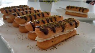 5 Dakikada 3 Ana Malzeme ile Yalancı Ekler Pasta Tarifi-Kedidilli Pasta-Gurbetinmutfagi