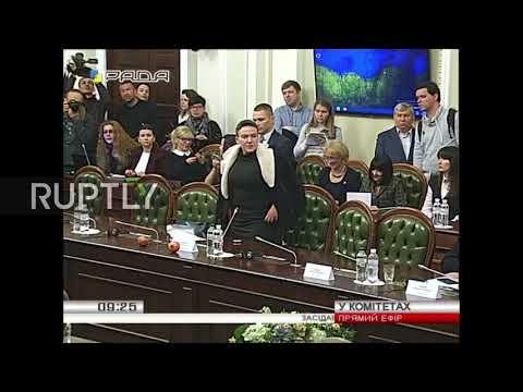 Ukraine: Savchenko mocks Ukrainian Rada with 'pomeGRENADES'