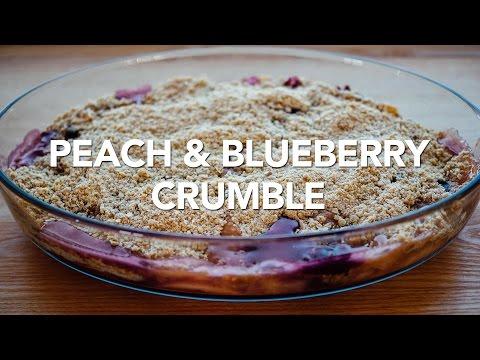 Easy Peach & Blueberry Crumble