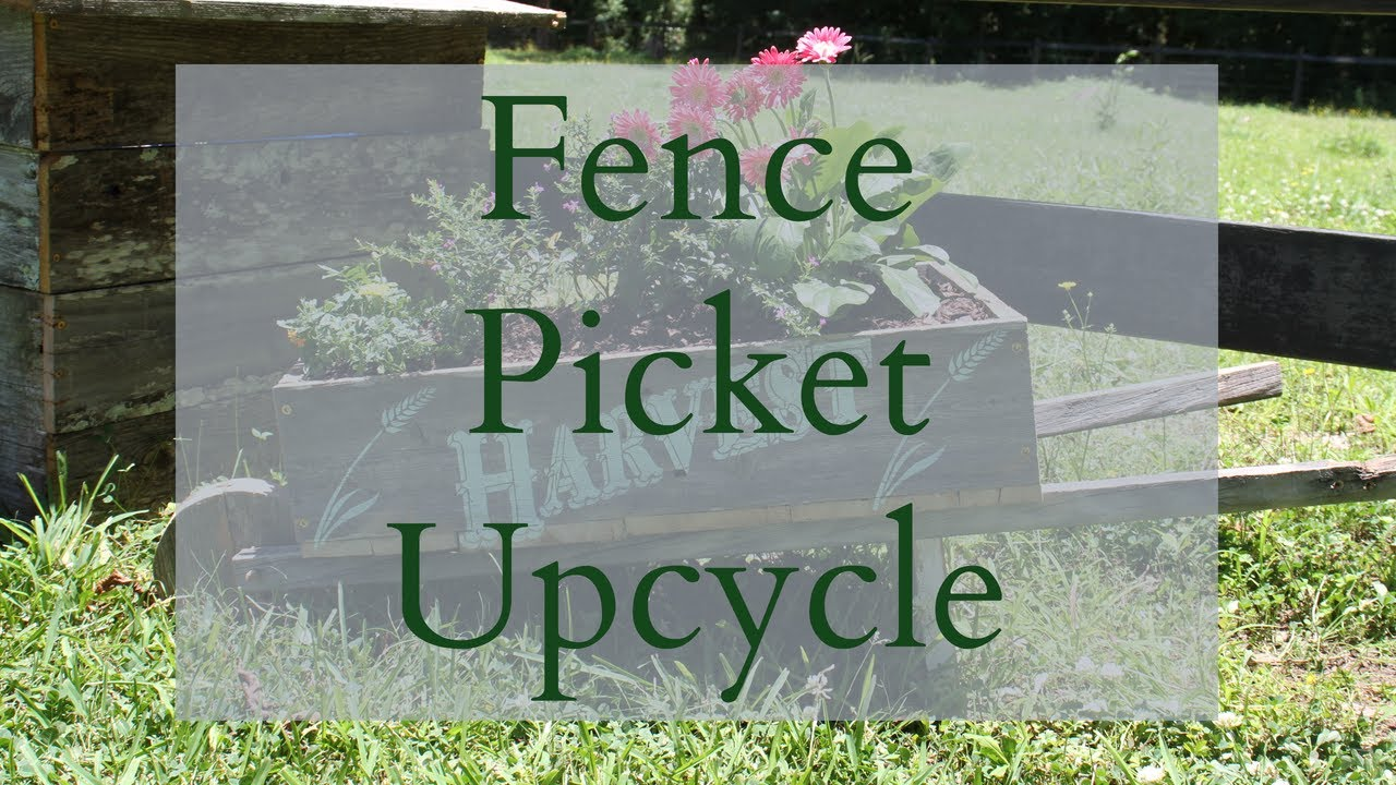 Fence Picket DIY | Trash to Treasure | Wood Upcycle | Upcycle DIY