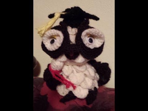 Amigurumi Uncinetto Gratis : Gufo laurea amigurumi - tutorial Uncinetto/crochet - YouTube