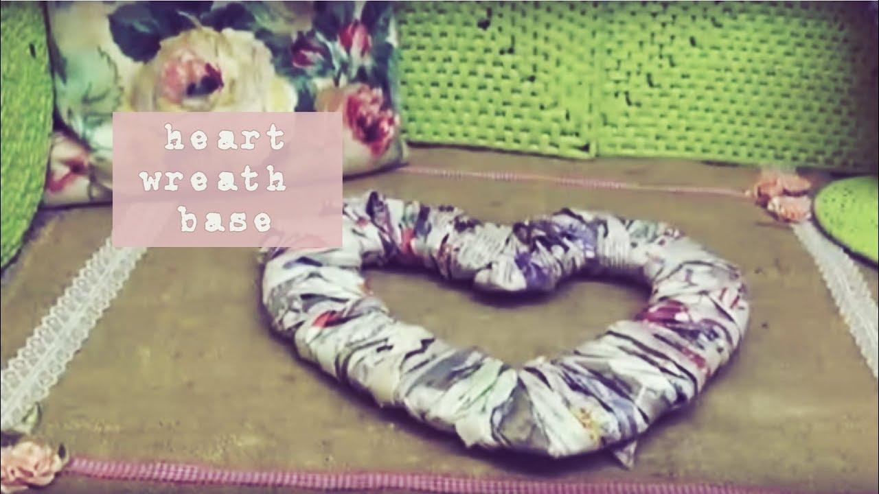 DIY Heart Wreath Base | Preeti Petals - YouTube