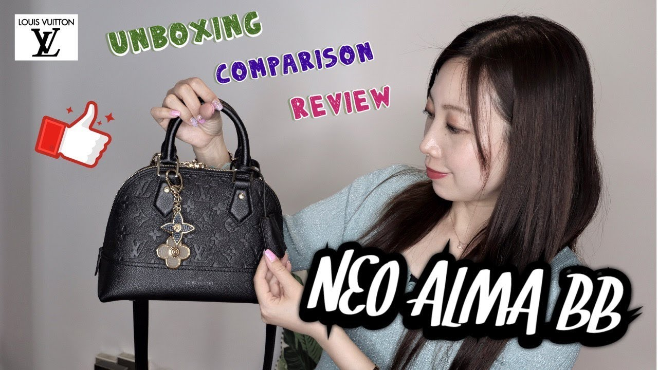 Louis Vuitton 2019 Neo Alma Bb In Black Colour Review Mod Shots Comparison Unboxing M44832 Youtube