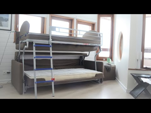 Flip Sofa Bunk Bed By Bonbon Compact Living Youtube