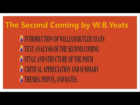 The Second Coming | Poem | By W.B.Yeats | In Urdu And Hindi |