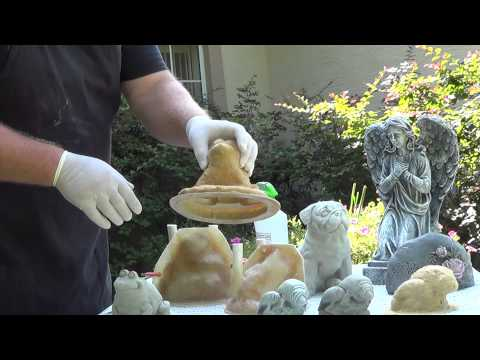Make concrete statues with latex rubber molds. Part 1 Getting started
