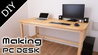 Making of  the PC DESK(working table)