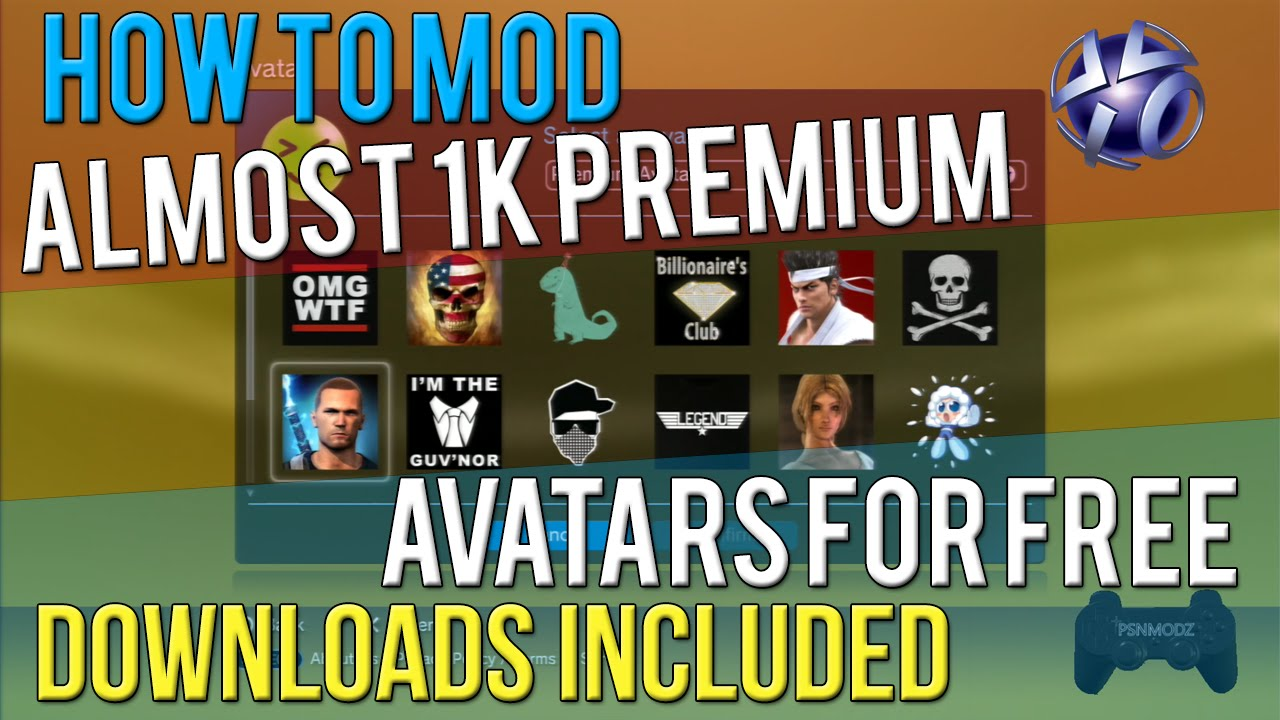How To Install 1400 Premium PSN Avatars on PS3