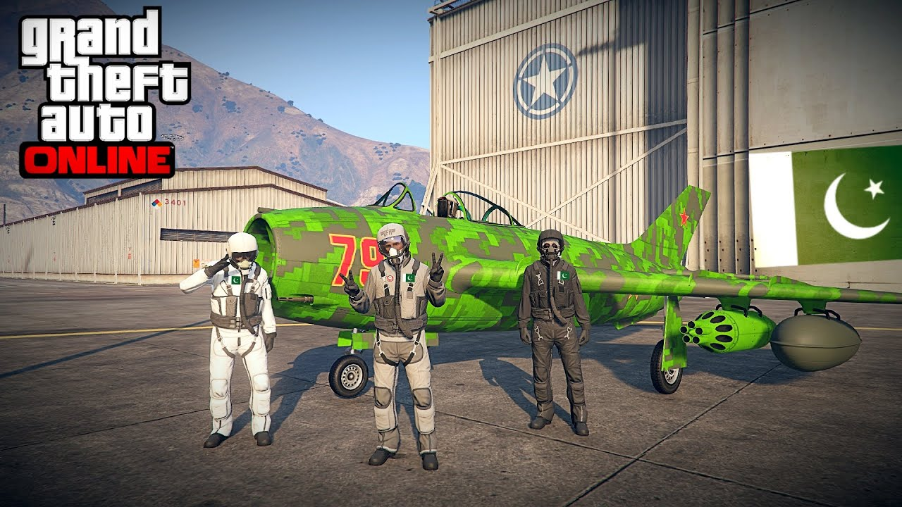 PAKISTAN AIR FORCE TRAINING FOR 14 AUGUST 2020 AIR SHOW | GTA 5 ONLINE PAKISTAN