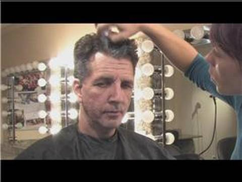 Theatrical Makeup How To Make Hair Look Gray For A Costume Youtube