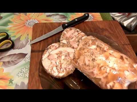 Мясо прессованное из курицы в домашних условиях рецепт с фото