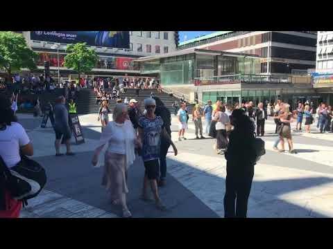Tango Flash mob in Stockholm