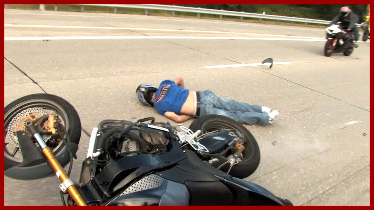 motorcycle biker accident stunt passed falling rider crash fail flyheight