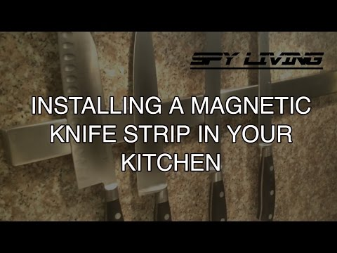 Magnetic Knife Strip Install
