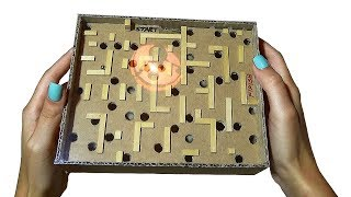 How to make Marble Labyrinth Game from Crdboard DIY Maze Board Game from Cardboard